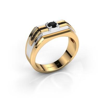 Foto van Heren ring Oliver 585 goud zwarte diamant 0.516 crt