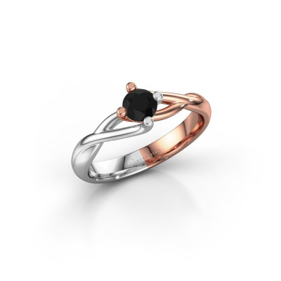 Picture of Ring Paulien 585 rose gold black diamond 0.36 crt