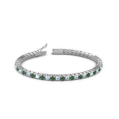 Tennisarmband Jenny 585 witgoud smaragd 3.5 mm
