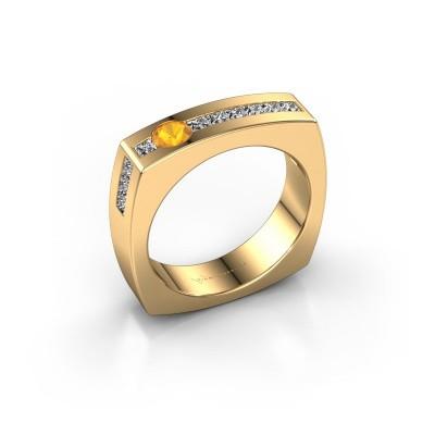 Foto van Mannen ring Arend 375 goud citrien 3.8 mm