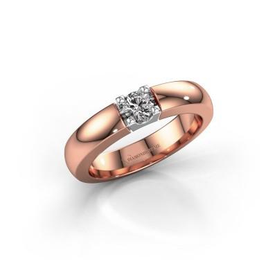 Foto van Verlovingsring Rianne 1 585 rosé goud diamant 0.25 crt