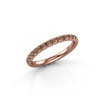 Foto van Aanschuifring Jackie 2.0 375 rosé goud bruine diamant 0.87 crt