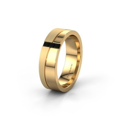 Trauring WH0906L16A 585 Gold Schwarz Diamant ±6x1.7 mm