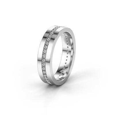 Trouwring WH0103L15BP 950 platina diamant 0.44 crt ±5x2 mm