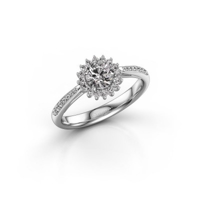 Picture of Engagement ring Mariska 2 585 white gold diamond 0.50 crt
