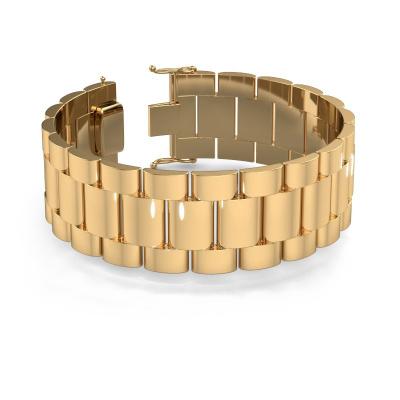 Foto van Rolex style armband Erik 25 mm 585 goud