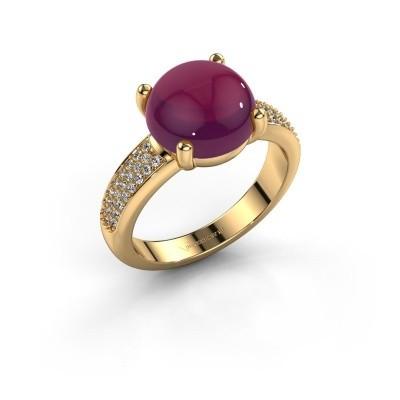 Foto van Ring Sophie 585 goud rhodoliet 10 mm