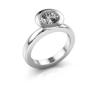 Stapelring Trudy Round 585 witgoud lab-grown diamant 1.30 crt