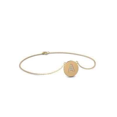 Armband Initial 050 585 goud lab-grown diamant 0.07 crt