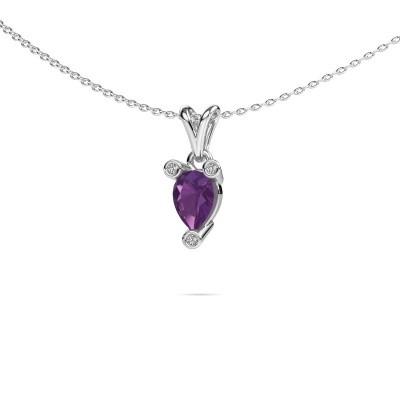 Picture of Necklace Cornelia Pear 950 platinum amethyst 7x5 mm