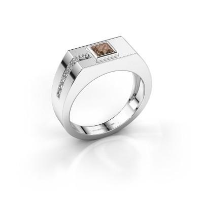 Foto van Heren ring Robertus 1 375 witgoud bruine diamant 0.496 crt