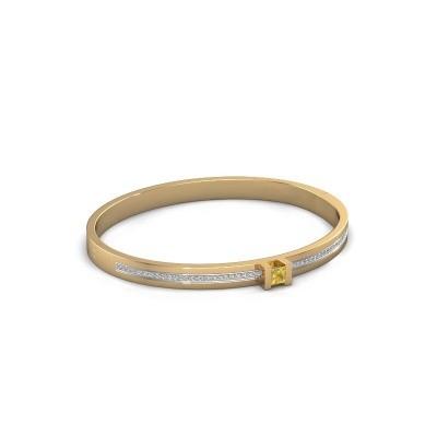 Armband Desire 585 goud gele saffier 4 mm