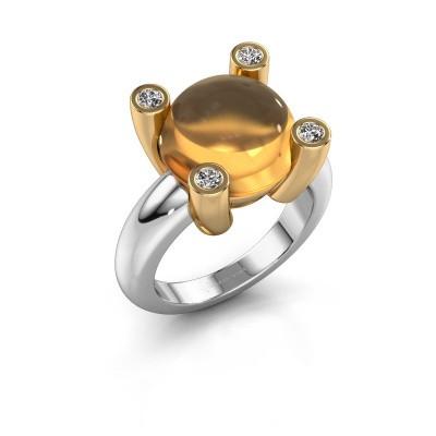 Ring Janice RND 585 witgoud citrien 12 mm