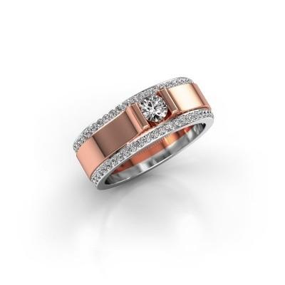 Foto van Herenring Danillo 585 rosé goud diamant 0.705 crt