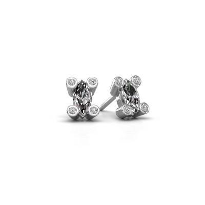 Foto van Oorstekers Cornelia Marquis 585 witgoud diamant 0.35 crt