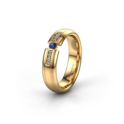 Trauring WH2128L26C 585 Gold Saphir ±5x2 mm