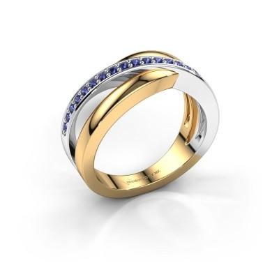 Foto van Ring Colette 585 goud saffier 1.3 mm