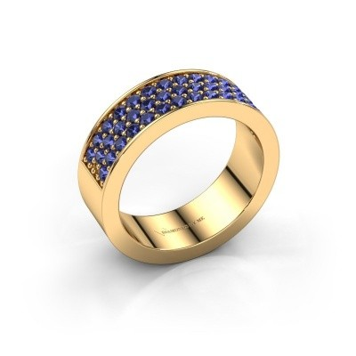 Ring Lindsey 6 375 gold sapphire 1.7 mm