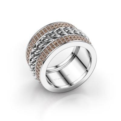 Foto van Ring Jayda 925 zilver bruine diamant 1.50 crt