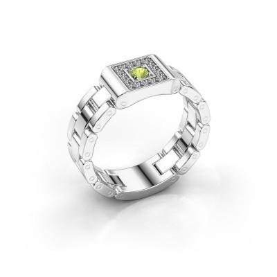 Rolex stijl ring Giel 950 platina peridoot 2.7 mm