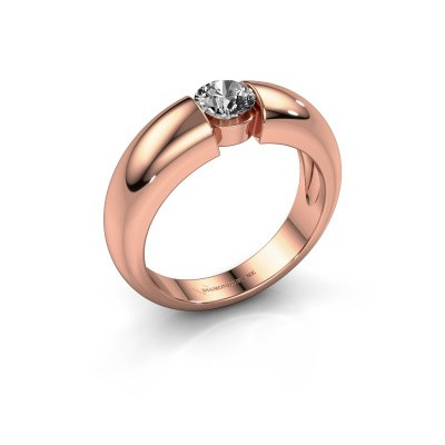 Foto van Verlovingsring Amelia 375 rosé goud diamant 0.40 crt