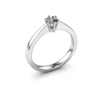 Bague de fiançailles Noortje 585 or blanc diamant 0.25 crt