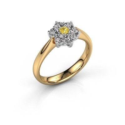 Promise ring Chantal 1 585 goud gele saffier 2.7 mm