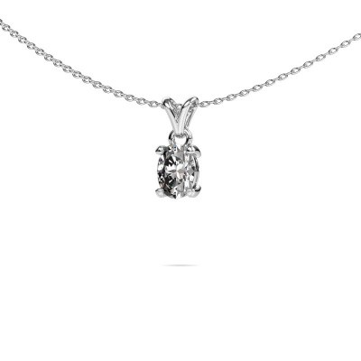 Foto van Ketting Lucy 1 585 witgoud diamant 0.80 crt