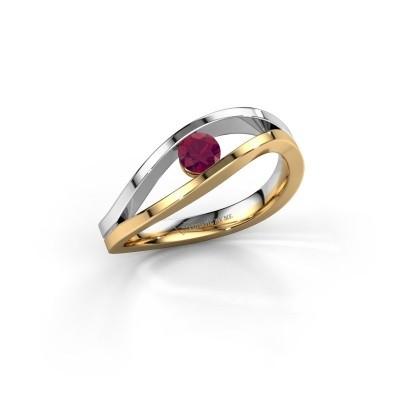 Engagement ring Sigrid 1 585 gold rhodolite 3.7 mm