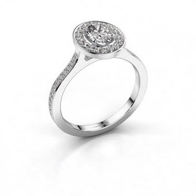Foto van Ring Madelon 2 950 platina diamant 1.16 crt
