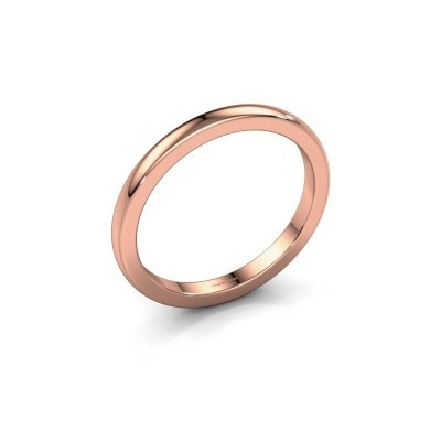 Aanschuifring Astrid 2mm 375 rosé goud