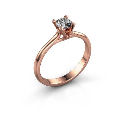 Verlovingsring Isa 1 585 rosé goud diamant 0.40 crt