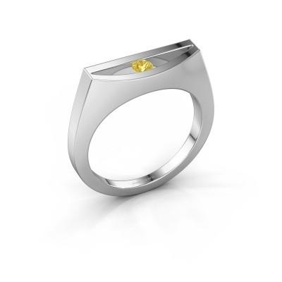 Ring Milou 925 Silber Gelb Saphir 3 mm