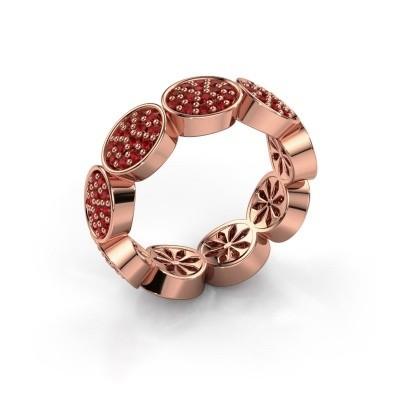 Foto van Ring Robin 375 rosé goud robijn 1.2 mm