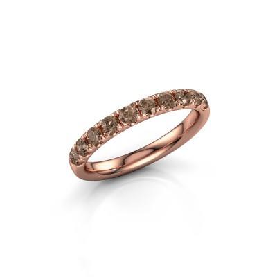 Foto van Aanschuifring Jackie Half 375 rosé goud bruine diamant 0.55 crt