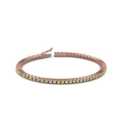 Tennis bracelet Karisma 375 rose gold peridot 2.4 mm