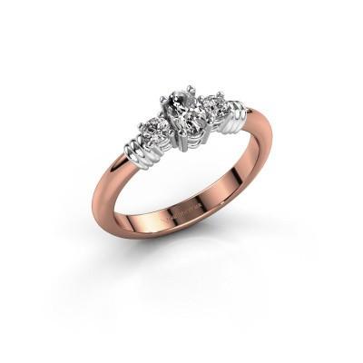 Foto van Promise ring Pippa 585 rosé goud lab-grown diamant 0.51 crt