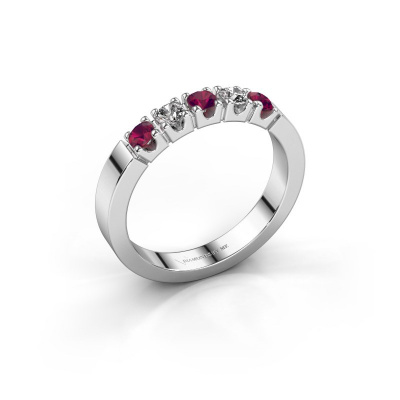 Engagement ring Dana 5 950 platinum rhodolite 3 mm