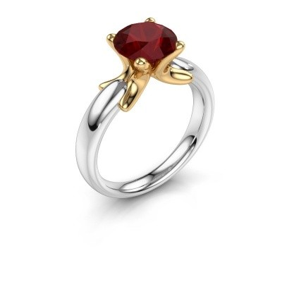 Ring Jodie 585 white gold ruby 8 mm