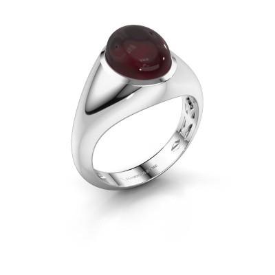 Ring Zaza 950 platinum garnet 10x8 mm