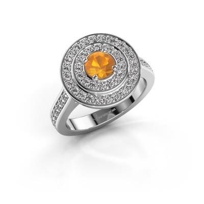 Ring Alecia 2 925 zilver citrien 5 mm
