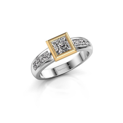 Stacking ring Lieke Square 585 white gold diamond 0.680 crt