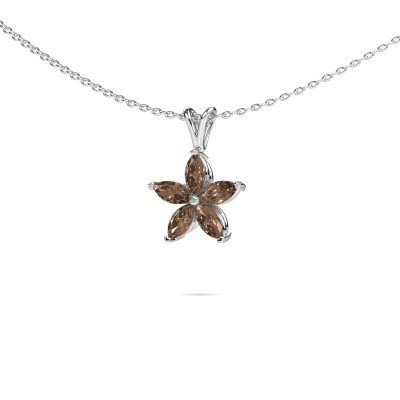 Foto van Ketting Sylvana 585 witgoud bruine diamant 0.14 crt