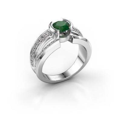 Foto van Heren ring Rowan 375 witgoud smaragd 6.5 mm