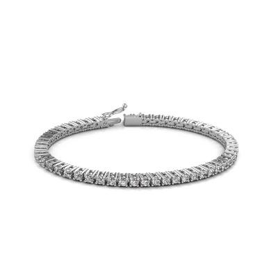 Bild von Tennis Armband Karin 3 mm 585 Weißgold Diamant 5.10 crt