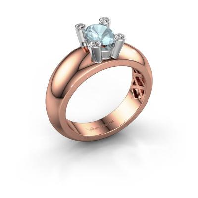Ring Cornelia Oval 585 rose gold aquamarine 7x5 mm