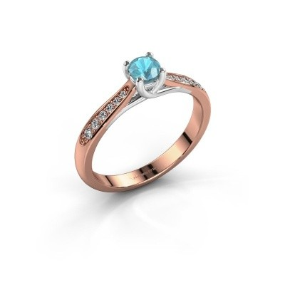 Picture of Engagement ring Mia 2 585 rose gold blue topaz 4.2 mm