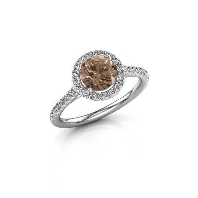 Foto van Verlovingsring Seline rnd 2 925 zilver bruine diamant 1.340 crt