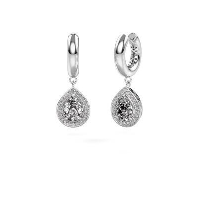 Foto van Oorhangers Barbar 1 585 witgoud lab-grown diamant 2.065 crt