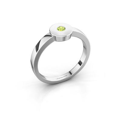 Ring Elisa 585 white gold peridot 3 mm